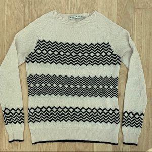 Trina Turk black and cream sweater